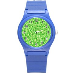 Specktre Triangle Green Round Plastic Sport Watch (S)