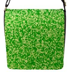 Specktre Triangle Green Flap Messenger Bag (S)