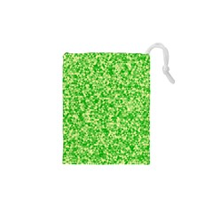 Specktre Triangle Green Drawstring Pouches (xs)