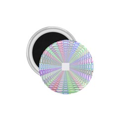 Tunnel With Bright Colors Rainbow Plaid Love Heart Triangle 1.75  Magnets