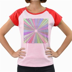 Tunnel With Bright Colors Rainbow Plaid Love Heart Triangle Women s Cap Sleeve T-Shirt