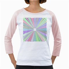 Tunnel With Bright Colors Rainbow Plaid Love Heart Triangle Girly Raglans