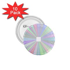 Tunnel With Bright Colors Rainbow Plaid Love Heart Triangle 1.75  Buttons (10 pack)