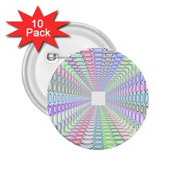 Tunnel With Bright Colors Rainbow Plaid Love Heart Triangle 2.25  Buttons (10 pack)