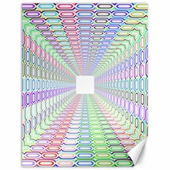 Tunnel With Bright Colors Rainbow Plaid Love Heart Triangle Canvas 12  x 16