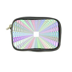 Tunnel With Bright Colors Rainbow Plaid Love Heart Triangle Coin Purse