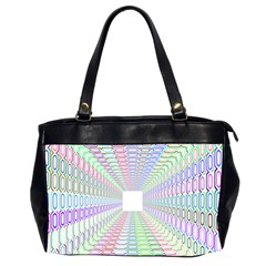 Tunnel With Bright Colors Rainbow Plaid Love Heart Triangle Office Handbags (2 Sides)