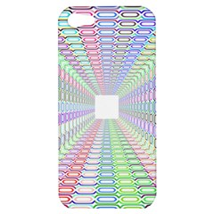 Tunnel With Bright Colors Rainbow Plaid Love Heart Triangle Apple iPhone 5 Hardshell Case