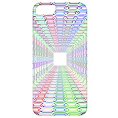 Tunnel With Bright Colors Rainbow Plaid Love Heart Triangle Apple iPhone 5 Classic Hardshell Case
