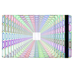 Tunnel With Bright Colors Rainbow Plaid Love Heart Triangle Apple iPad 2 Flip Case