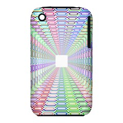 Tunnel With Bright Colors Rainbow Plaid Love Heart Triangle iPhone 3S/3GS