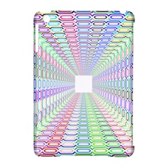 Tunnel With Bright Colors Rainbow Plaid Love Heart Triangle Apple iPad Mini Hardshell Case (Compatible with Smart Cover)