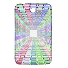 Tunnel With Bright Colors Rainbow Plaid Love Heart Triangle Samsung Galaxy Tab 3 (7 ) P3200 Hardshell Case
