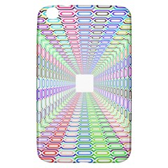 Tunnel With Bright Colors Rainbow Plaid Love Heart Triangle Samsung Galaxy Tab 3 (8 ) T3100 Hardshell Case