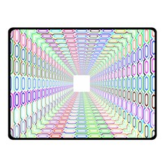 Tunnel With Bright Colors Rainbow Plaid Love Heart Triangle Double Sided Fleece Blanket (Small)