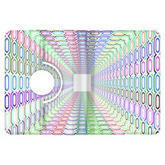 Tunnel With Bright Colors Rainbow Plaid Love Heart Triangle Kindle Fire HDX Flip 360 Case