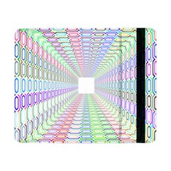 Tunnel With Bright Colors Rainbow Plaid Love Heart Triangle Samsung Galaxy Tab Pro 8.4  Flip Case