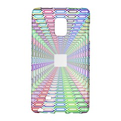 Tunnel With Bright Colors Rainbow Plaid Love Heart Triangle Galaxy Note Edge