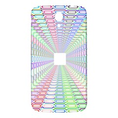 Tunnel With Bright Colors Rainbow Plaid Love Heart Triangle Samsung Galaxy Mega I9200 Hardshell Back Case