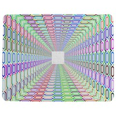 Tunnel With Bright Colors Rainbow Plaid Love Heart Triangle Jigsaw Puzzle Photo Stand (Rectangular)