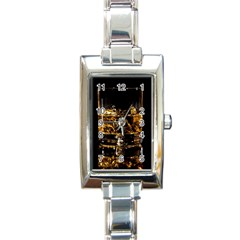 Drink Good Whiskey Rectangle Italian Charm Watch