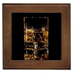 Drink Good Whiskey Framed Tiles