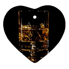 Drink Good Whiskey Ornament (Heart)