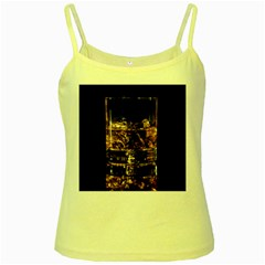 Drink Good Whiskey Yellow Spaghetti Tank