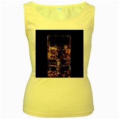 Drink Good Whiskey Women s Yellow Tank Top