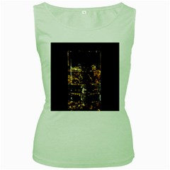 Drink Good Whiskey Women s Green Tank Top
