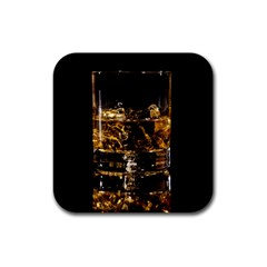Drink Good Whiskey Rubber Square Coaster (4 pack)