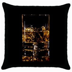 Drink Good Whiskey Throw Pillow Case (Black)