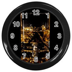 Drink Good Whiskey Wall Clocks (Black)