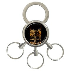 Drink Good Whiskey 3-Ring Key Chains