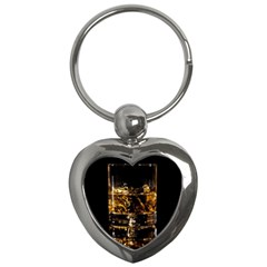 Drink Good Whiskey Key Chains (Heart)