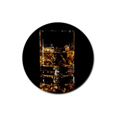 Drink Good Whiskey Rubber Round Coaster (4 pack)