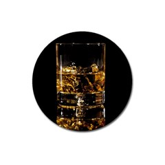 Drink Good Whiskey Magnet 3  (Round)