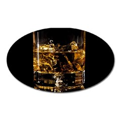 Drink Good Whiskey Oval Magnet