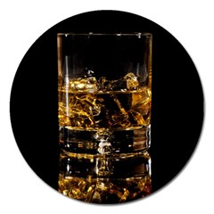 Drink Good Whiskey Magnet 5  (Round)
