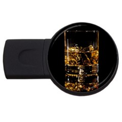 Drink Good Whiskey USB Flash Drive Round (2 GB)