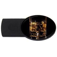 Drink Good Whiskey USB Flash Drive Oval (1 GB)