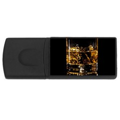 Drink Good Whiskey USB Flash Drive Rectangular (2 GB)