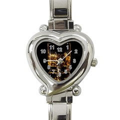Drink Good Whiskey Heart Italian Charm Watch
