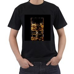 Drink Good Whiskey Men s T-Shirt (Black) (Two Sided)