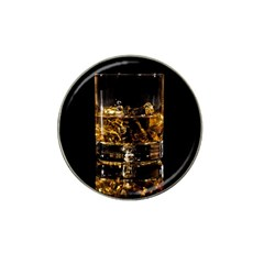 Drink Good Whiskey Hat Clip Ball Marker (4 pack)