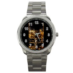 Drink Good Whiskey Sport Metal Watch