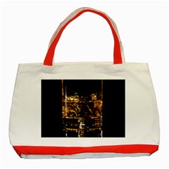 Drink Good Whiskey Classic Tote Bag (Red)
