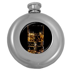 Drink Good Whiskey Round Hip Flask (5 oz)