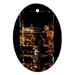 Drink Good Whiskey Oval Ornament (Two Sides)