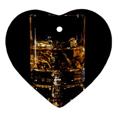 Drink Good Whiskey Heart Ornament (Two Sides)